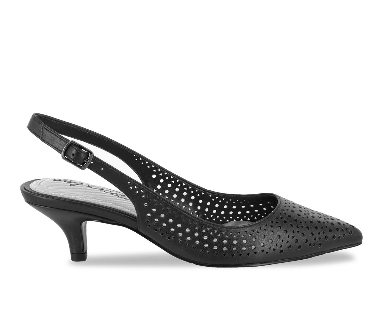 Easy Street Enchant Women's Dress Shoe (Black Faux Leather)