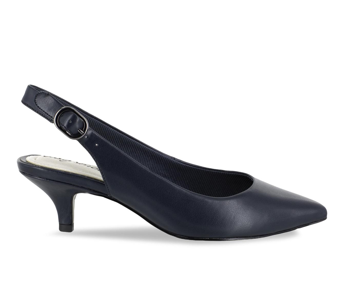Easy Street Faye Women's Dress Shoe (Blue Faux Leather)