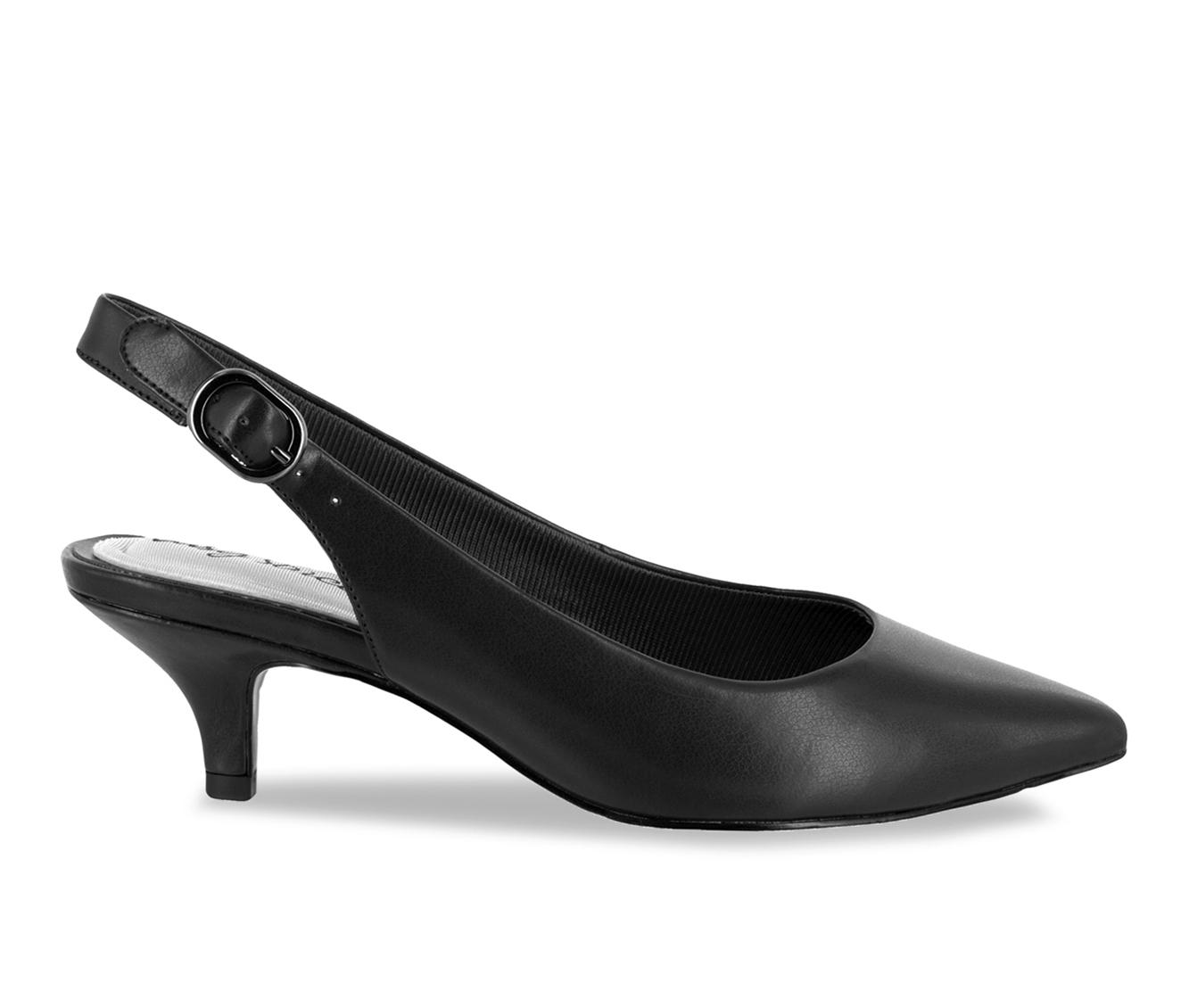 Easy Street Faye Women's Dress Shoe (Black Faux Leather)