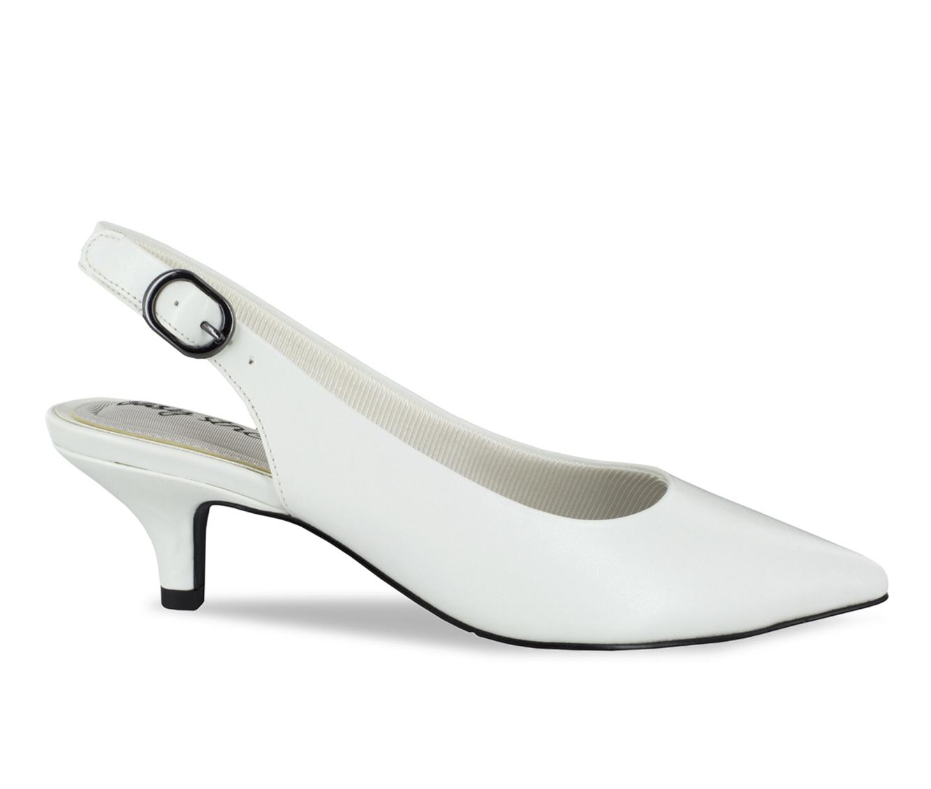 Easy Street Faye Women's Dress Shoe (White Faux Leather)