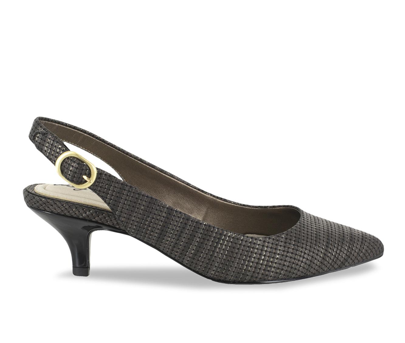 Easy Street Faye Women's Dress Shoe (Gold Faux Leather)