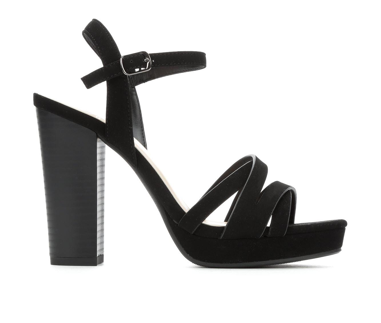 Delicious Sunday Women's Dress Shoe (Black Faux Leather)