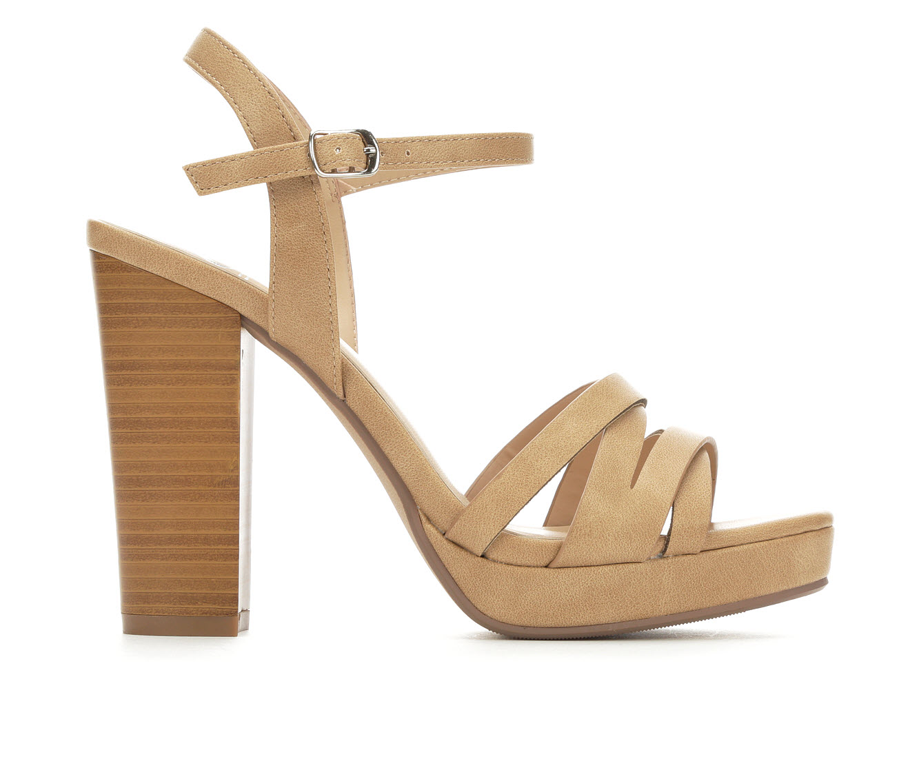 Delicious Sunday Women's Dress Shoe (Beige Faux Leather)