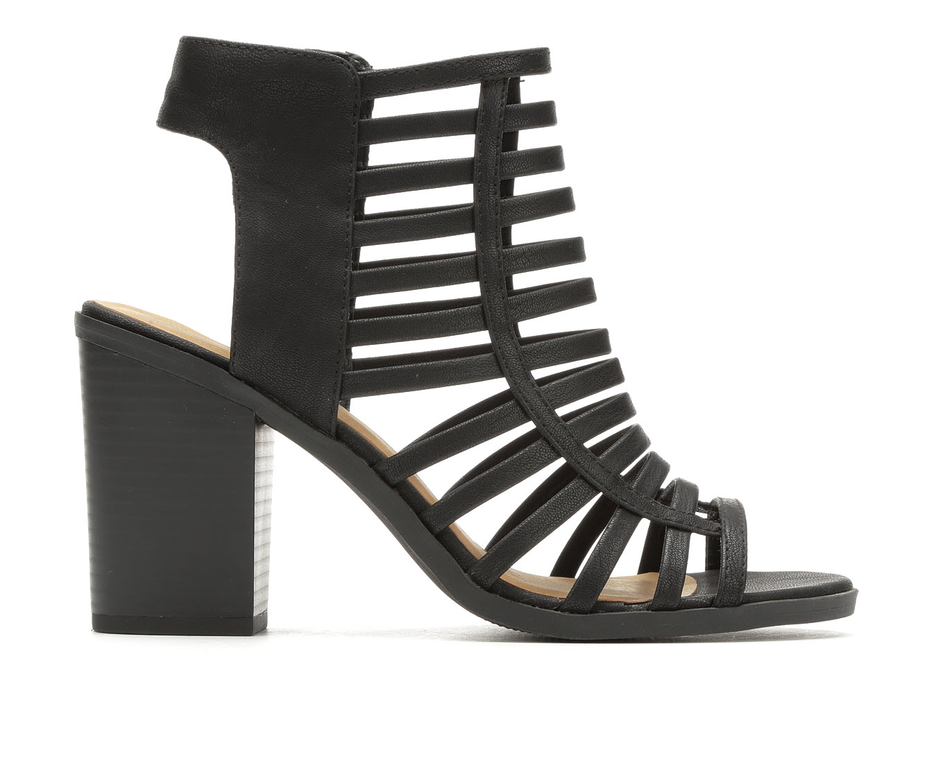 Soda Depth Women's Dress Shoe (Black Faux Leather)
