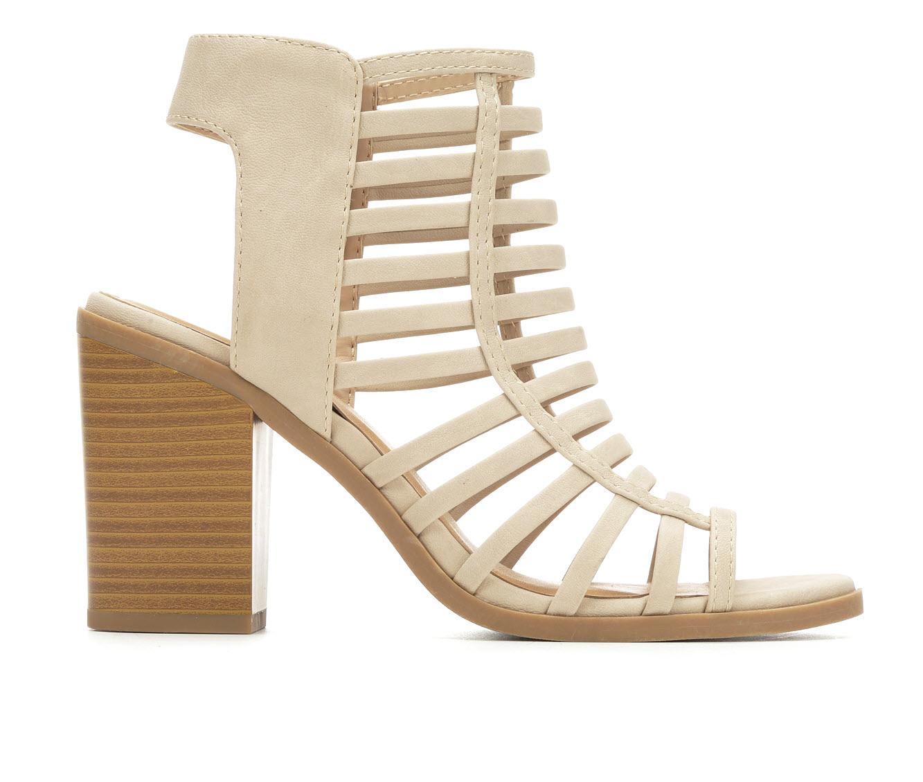 Soda Depth Women's Dress Shoe (Beige Faux Leather)