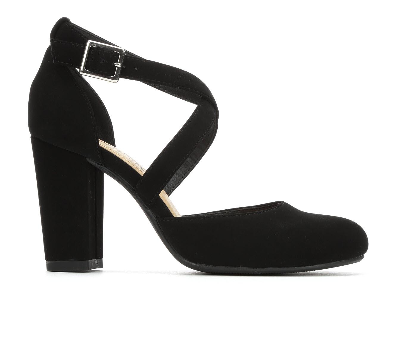 City Classified Husk Women's Dress Shoe (Black Faux Leather)