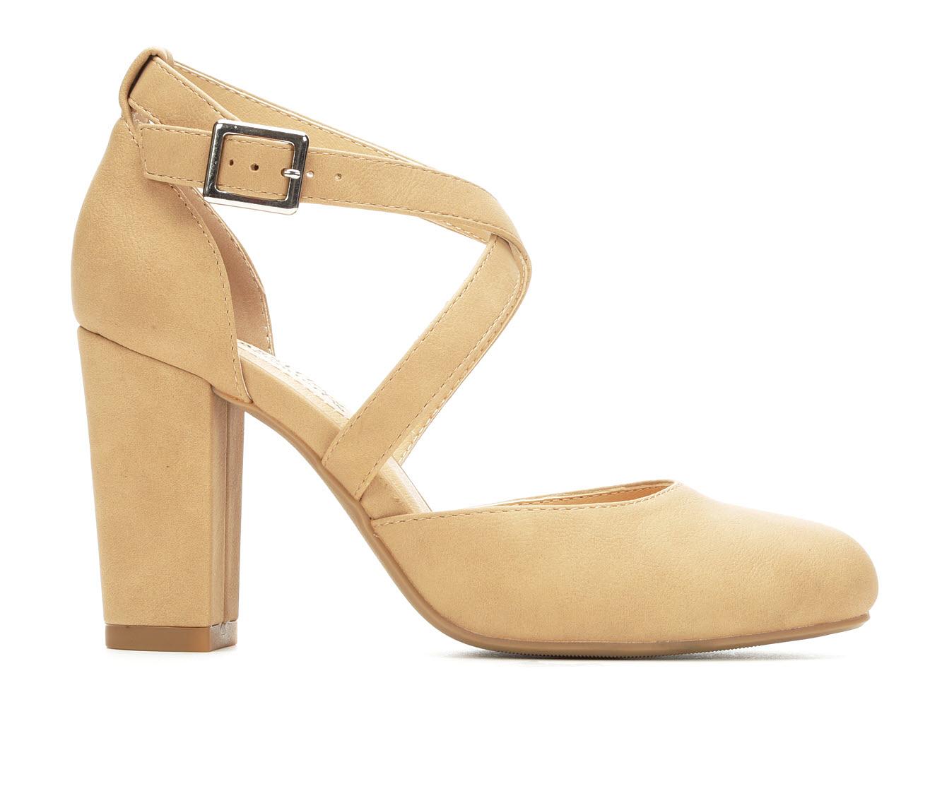 City Classified Husk Women's Dress Shoe (Beige Faux Leather)