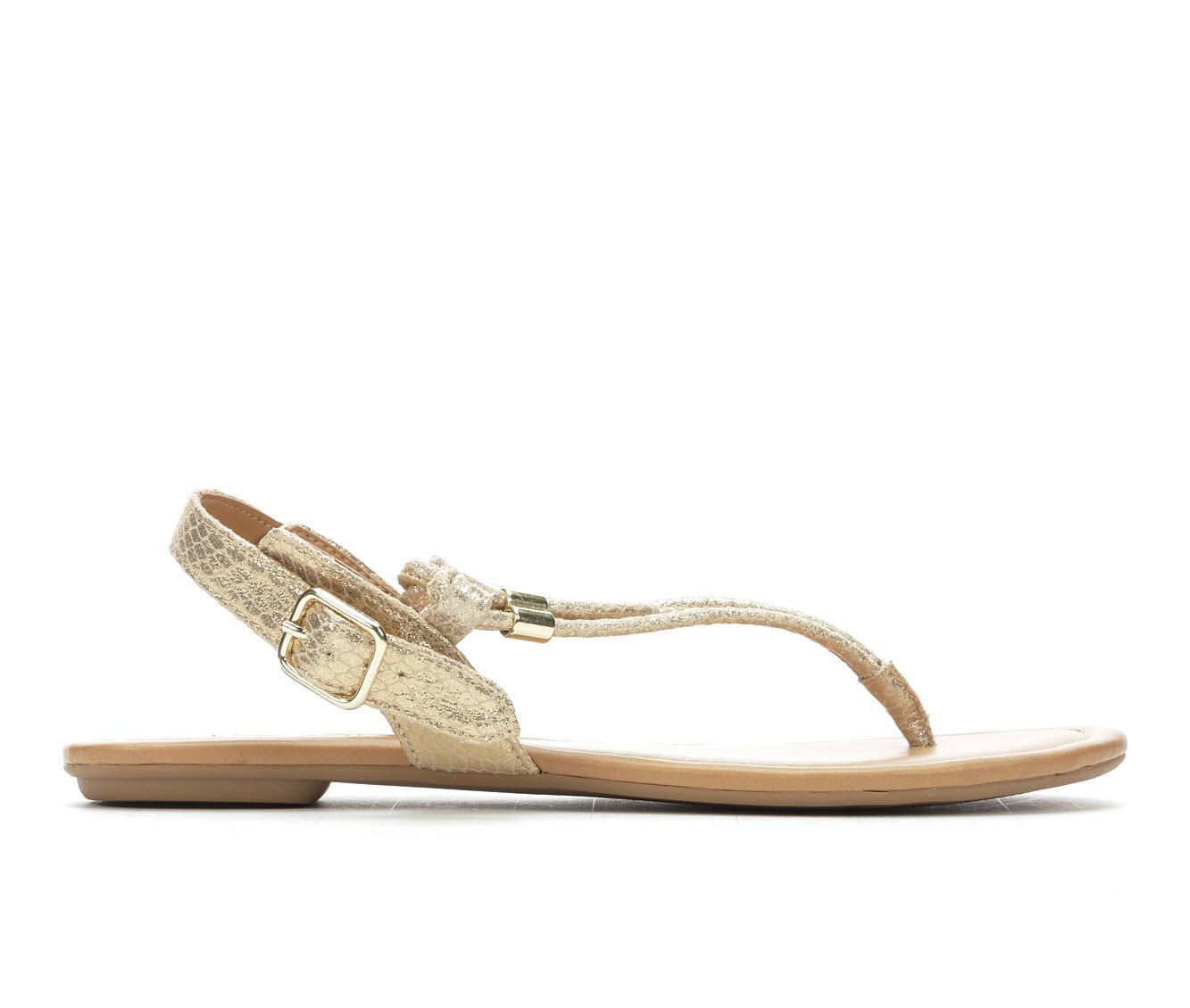 Y-Not Sweetie Women's Sandal (Gold Canvas)