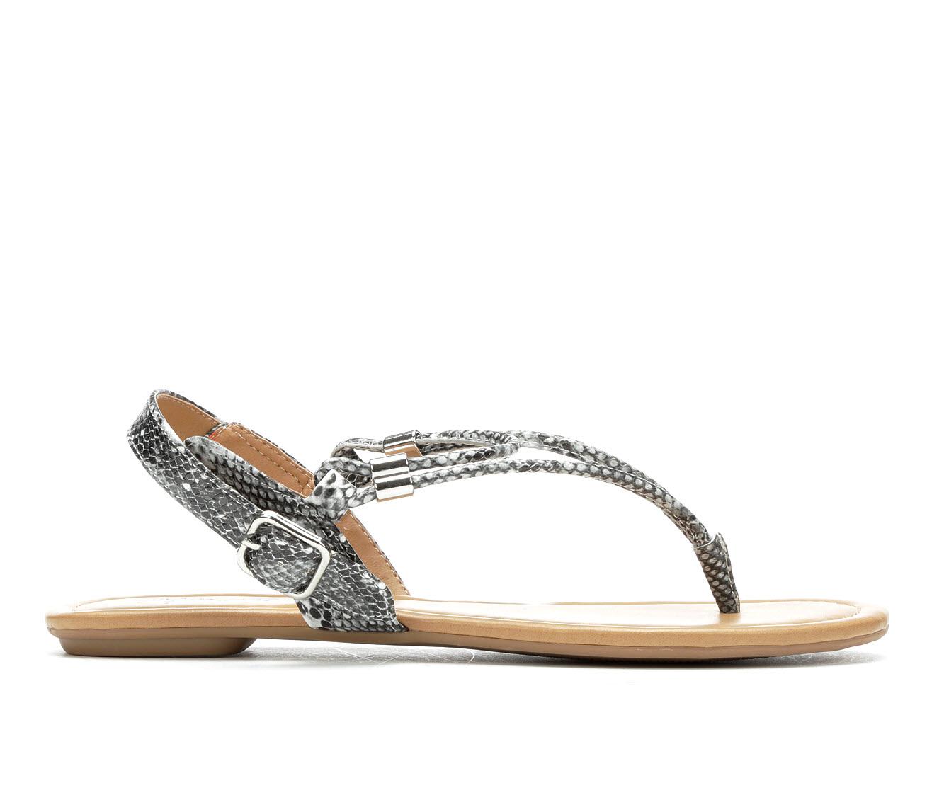 Y-Not Sweetie Women's Sandal (Gray Faux Leather)