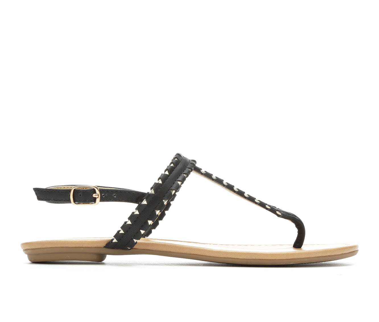 Y-Not Josie Women's Sandal (Black Faux Leather)