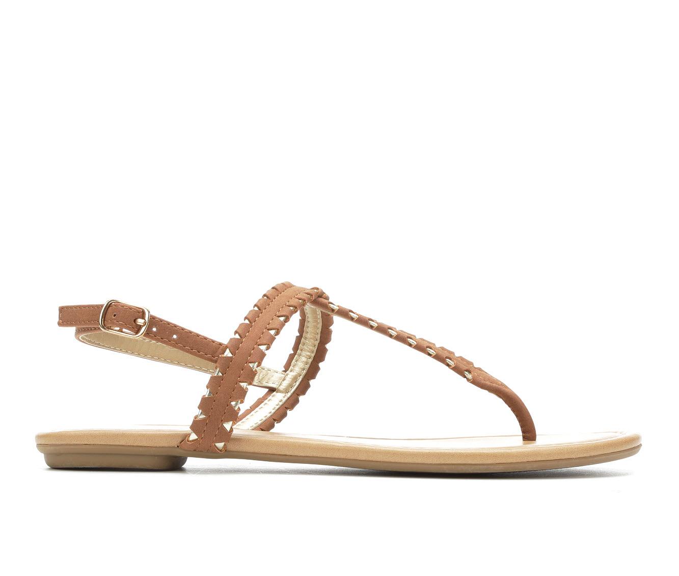 Y-Not Josie Women's Sandal (Brown Faux Leather)