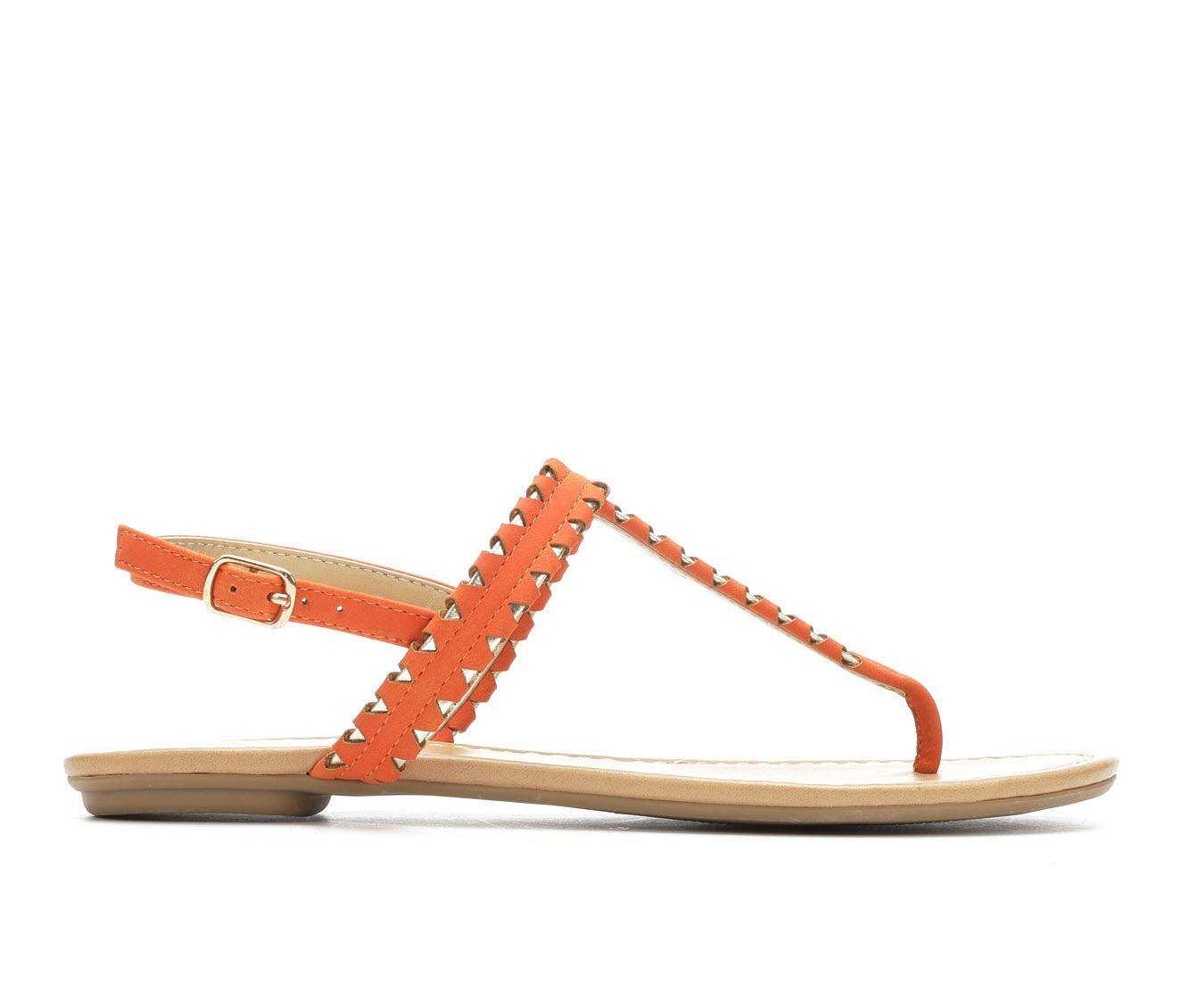 Y-Not Josie Women's Sandal (Orange Faux Leather)