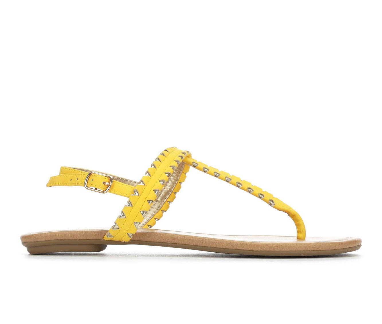 Y-Not Josie Women's Sandal (Yellow Faux Leather)