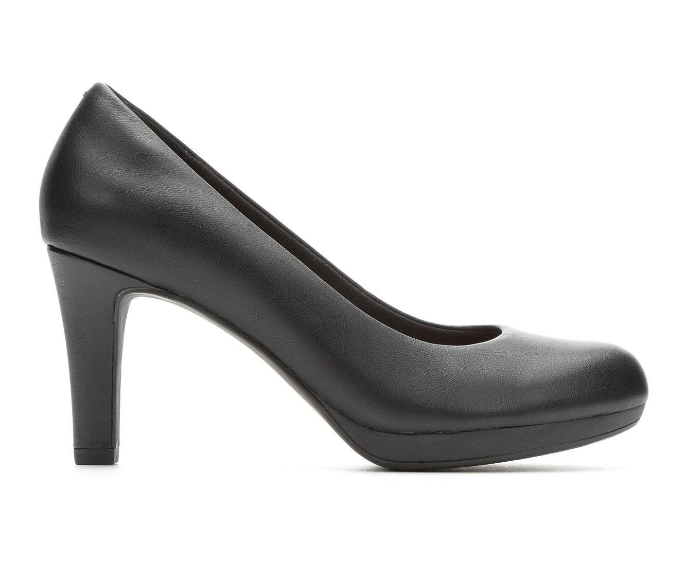 Clarks Adriel Viola Women's Dress Shoe (Black Leather)