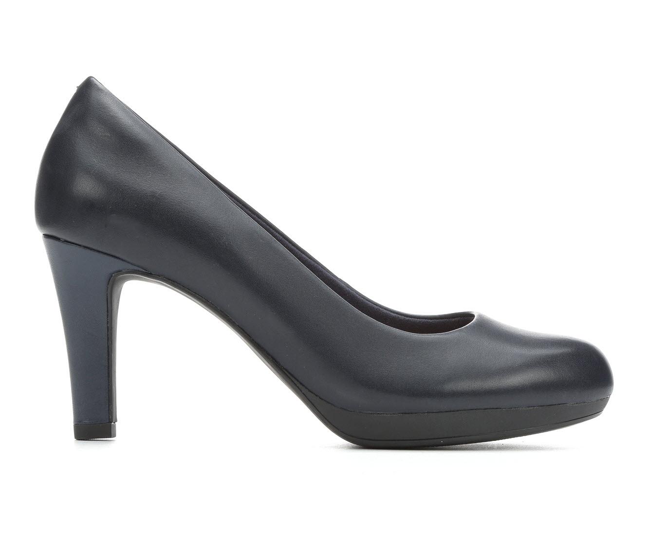 Clarks Adriel Viola Women's Dress Shoe (Blue Leather)