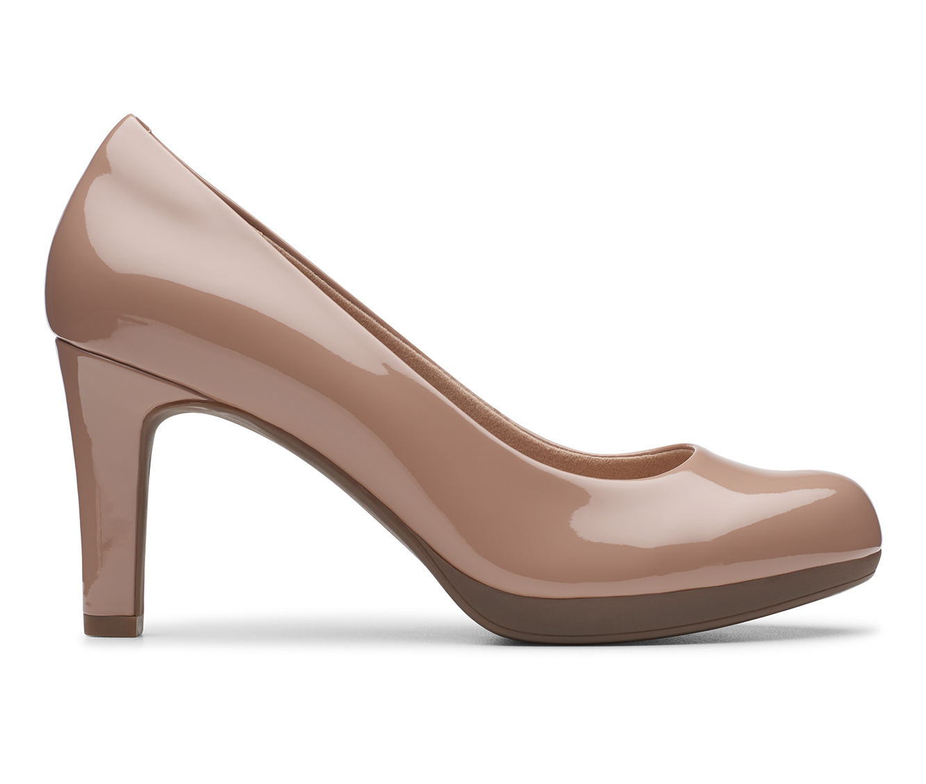 Clarks Adriel Viola Women's Dress Shoe (Brown Faux Leather)