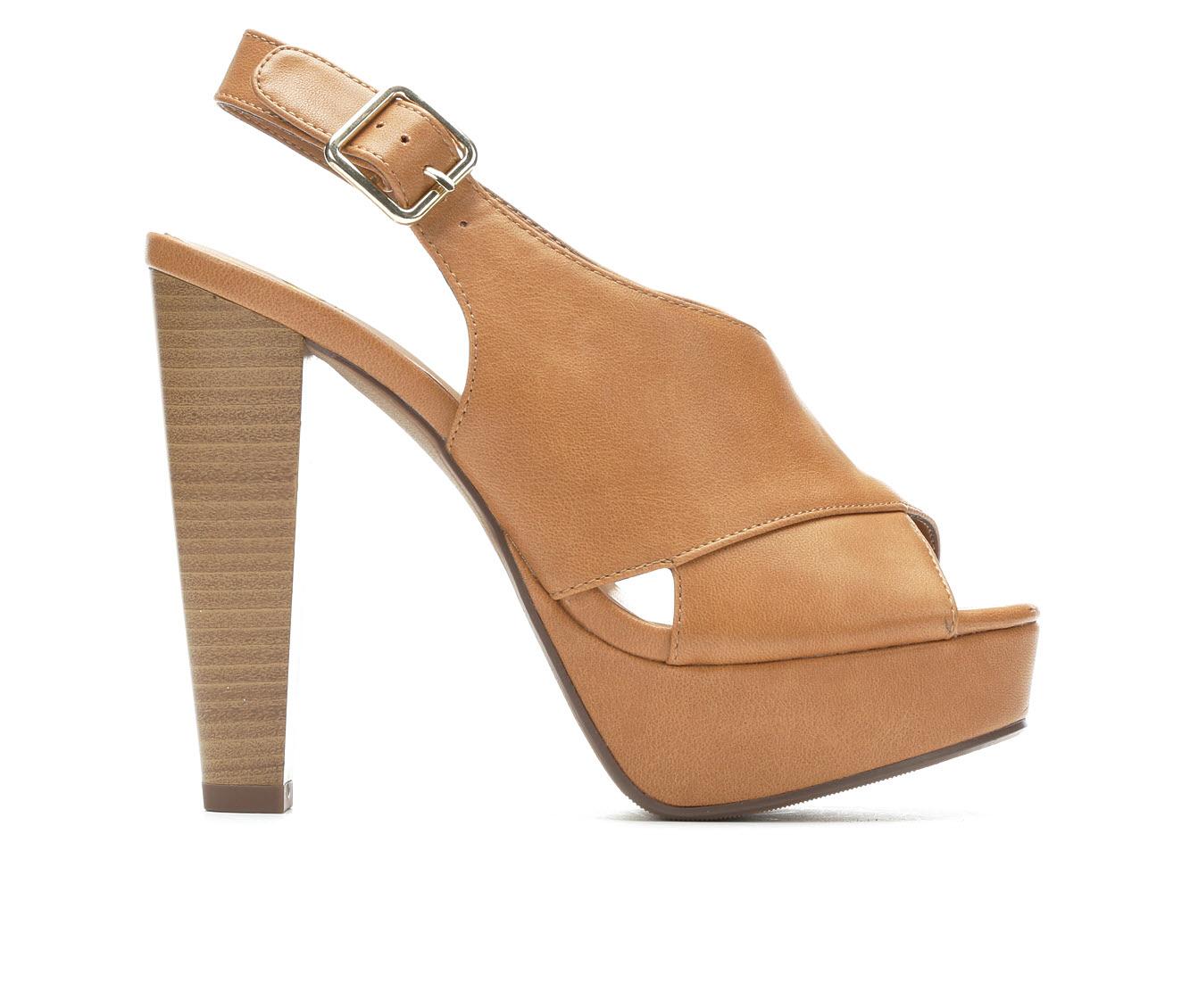 Delicious Hab Women's Dress Shoe (Brown Faux Leather)