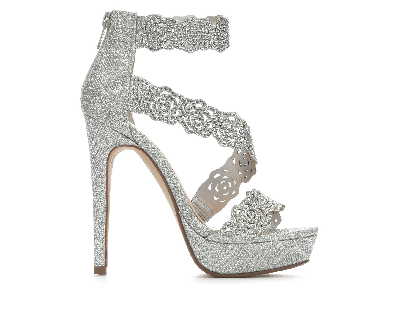 Delicious Yodels Women's Dress Shoe (Silver Faux Leather)