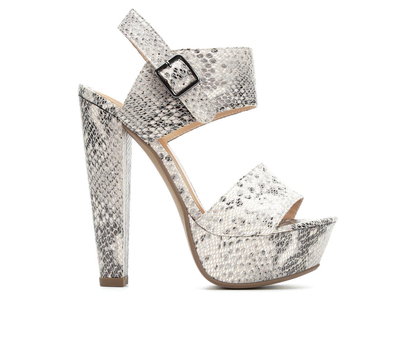 Delicious Key Women's Dress Shoe (Beige Faux Leather)