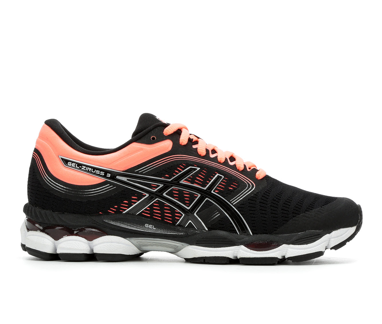 ASICS Gel Ziruss 3 Women's Athletic Shoe (Black)