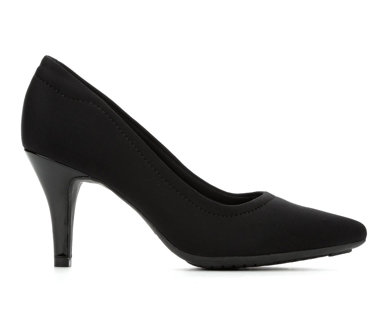 Andiamo Gina Women's Dress Shoe (Black Canvas)