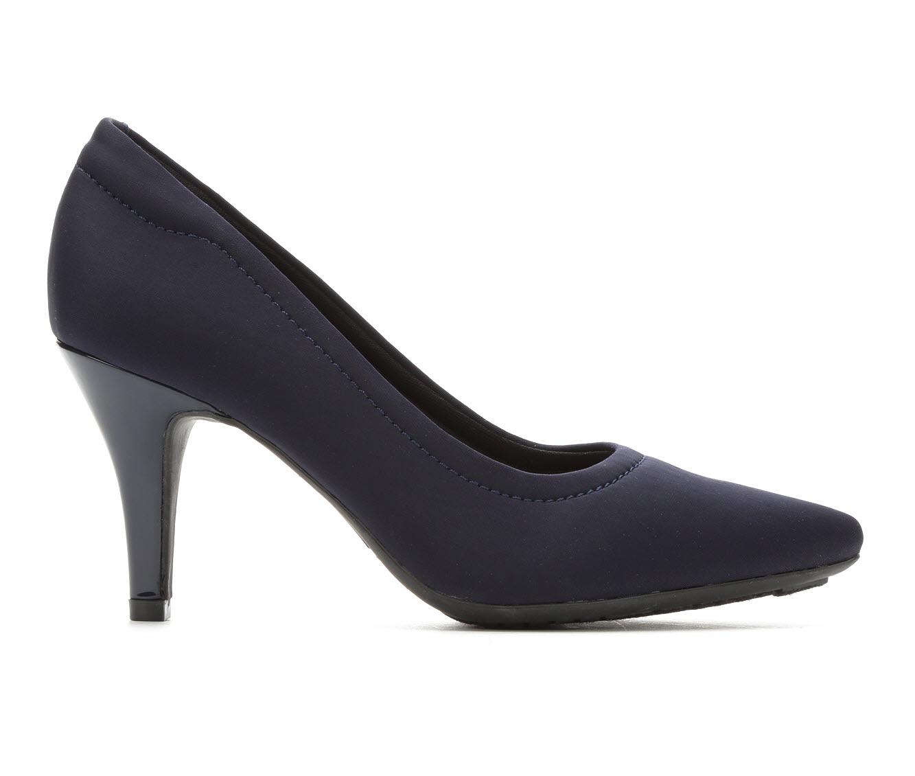 Andiamo Gina Women's Dress Shoe (Blue Canvas)