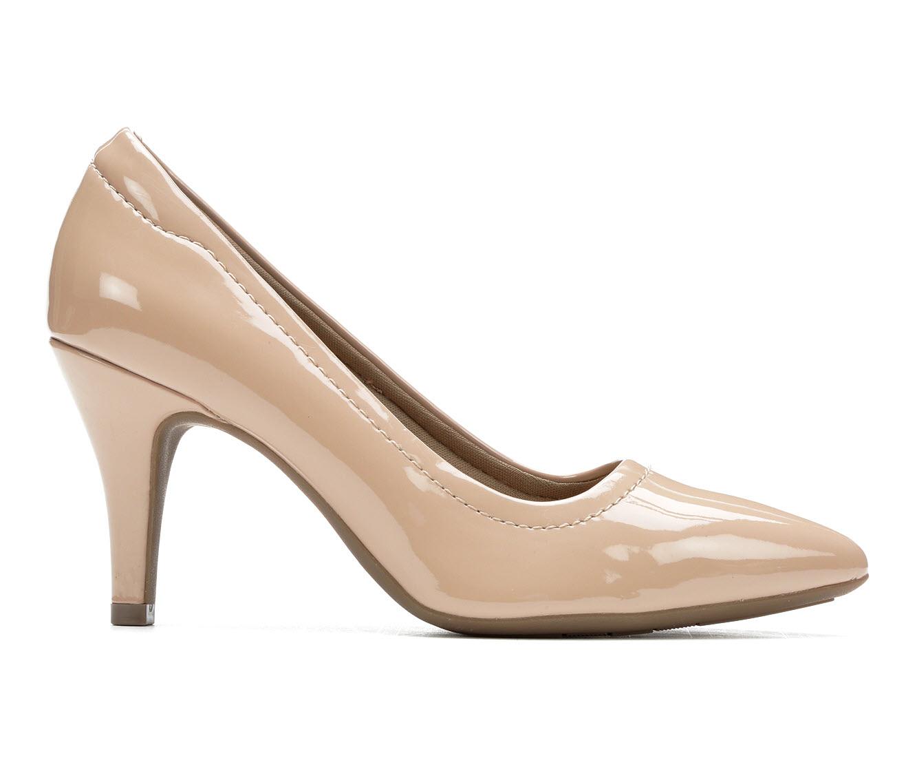 Andiamo Gina Women's Dress Shoe (Beige Faux Leather)