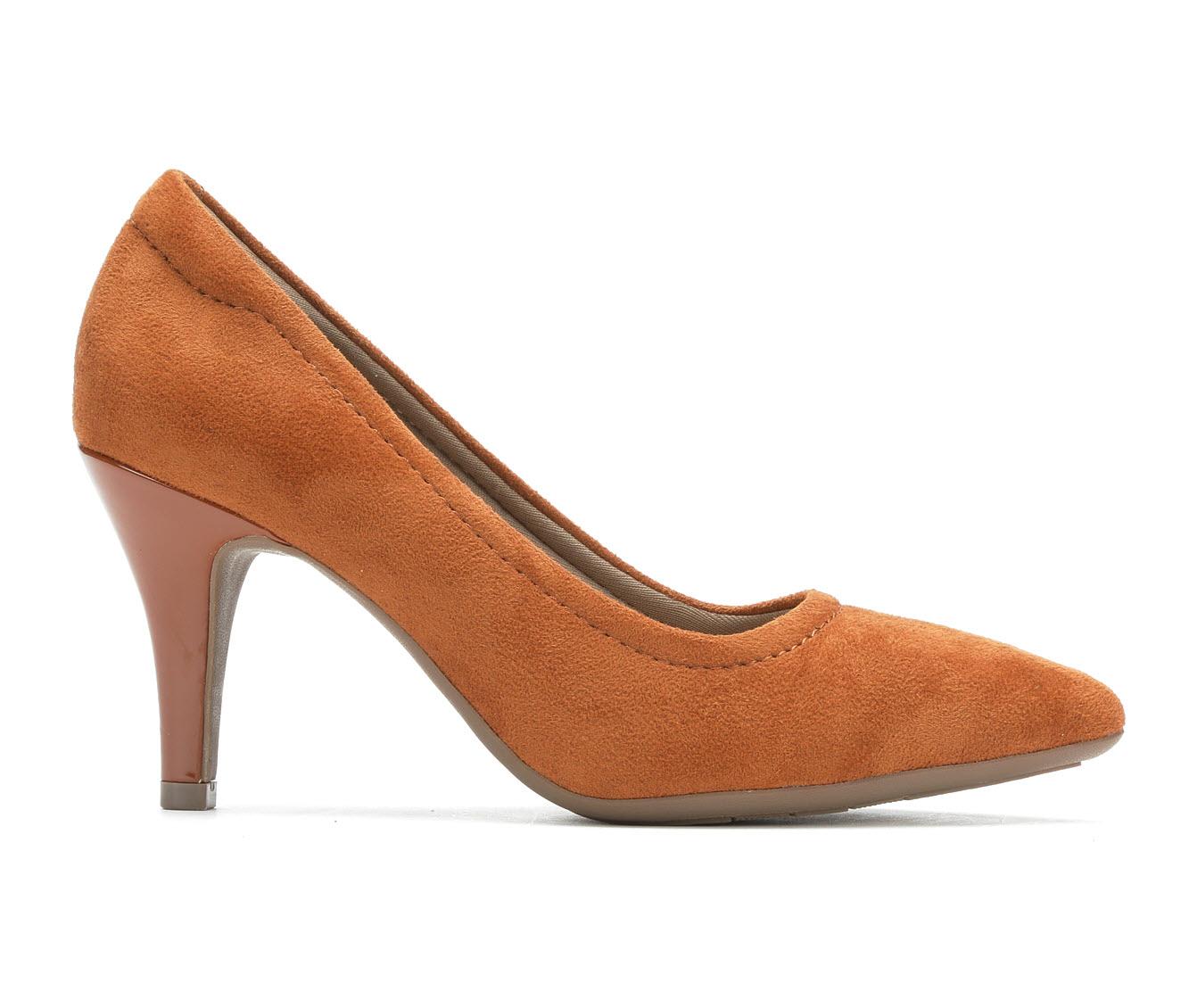 Andiamo Gina Women's Dress Shoe (Brown Canvas)