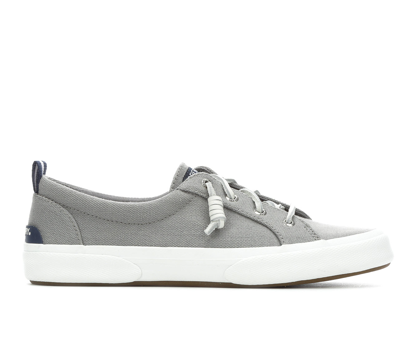 Sperry Pier Wave Lace to Toe Canvas Women's Shoe (Gray Canvas)