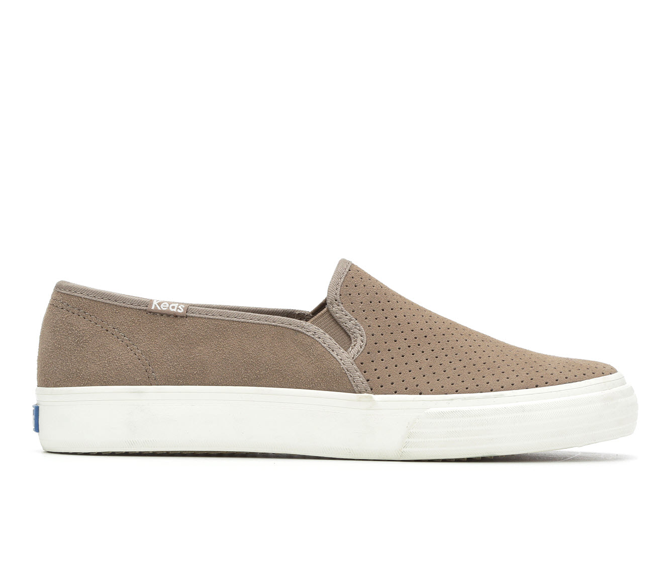Keds Double Decker Perf Suede Women's Shoe (Brown Canvas)