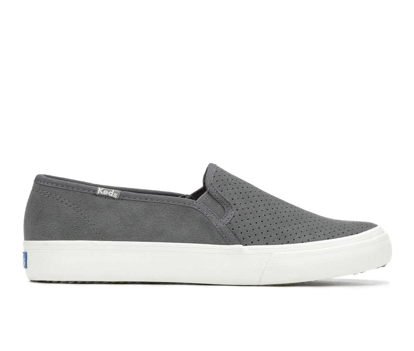 Keds Double Decker Perf Suede Women's Shoe (Gray Canvas)