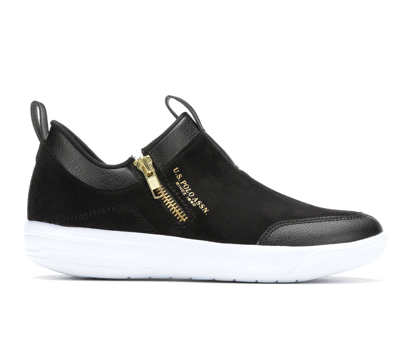 US Polo Assn Mega Women's Shoe (Black Faux Leather)