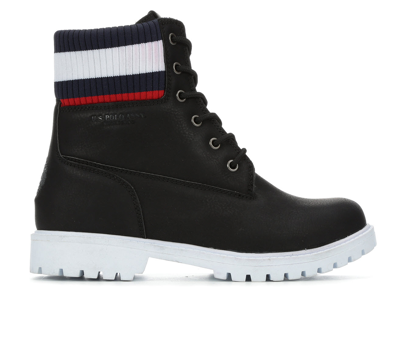 US Polo Assn Holland Women's Boot (Black Faux Leather)