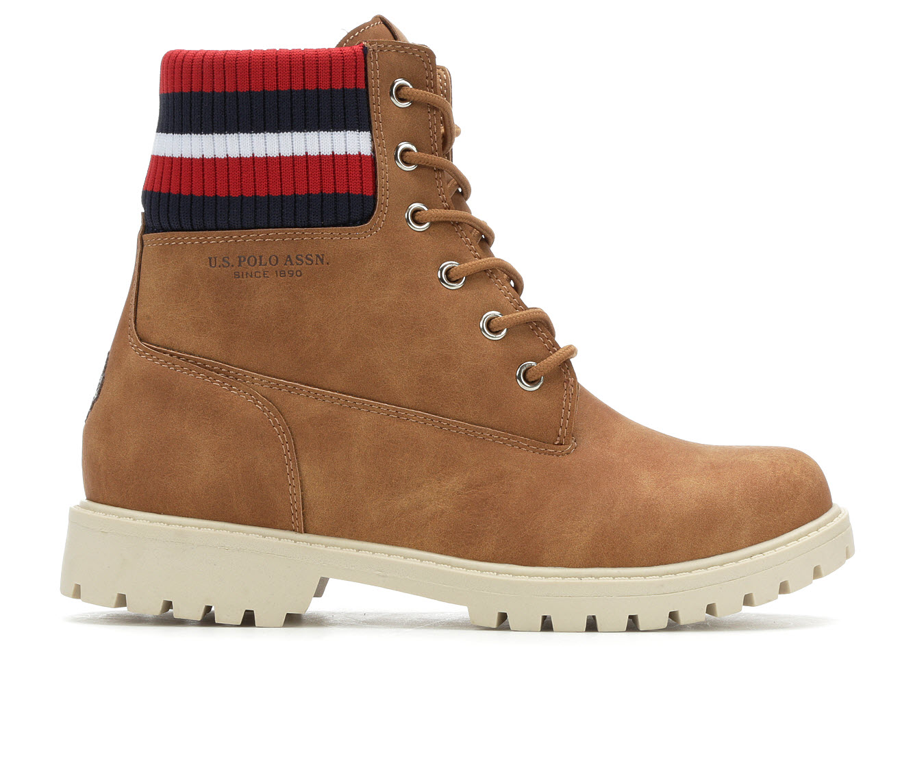 US Polo Assn Holland Women's Boots (Beige - Faux Leather)