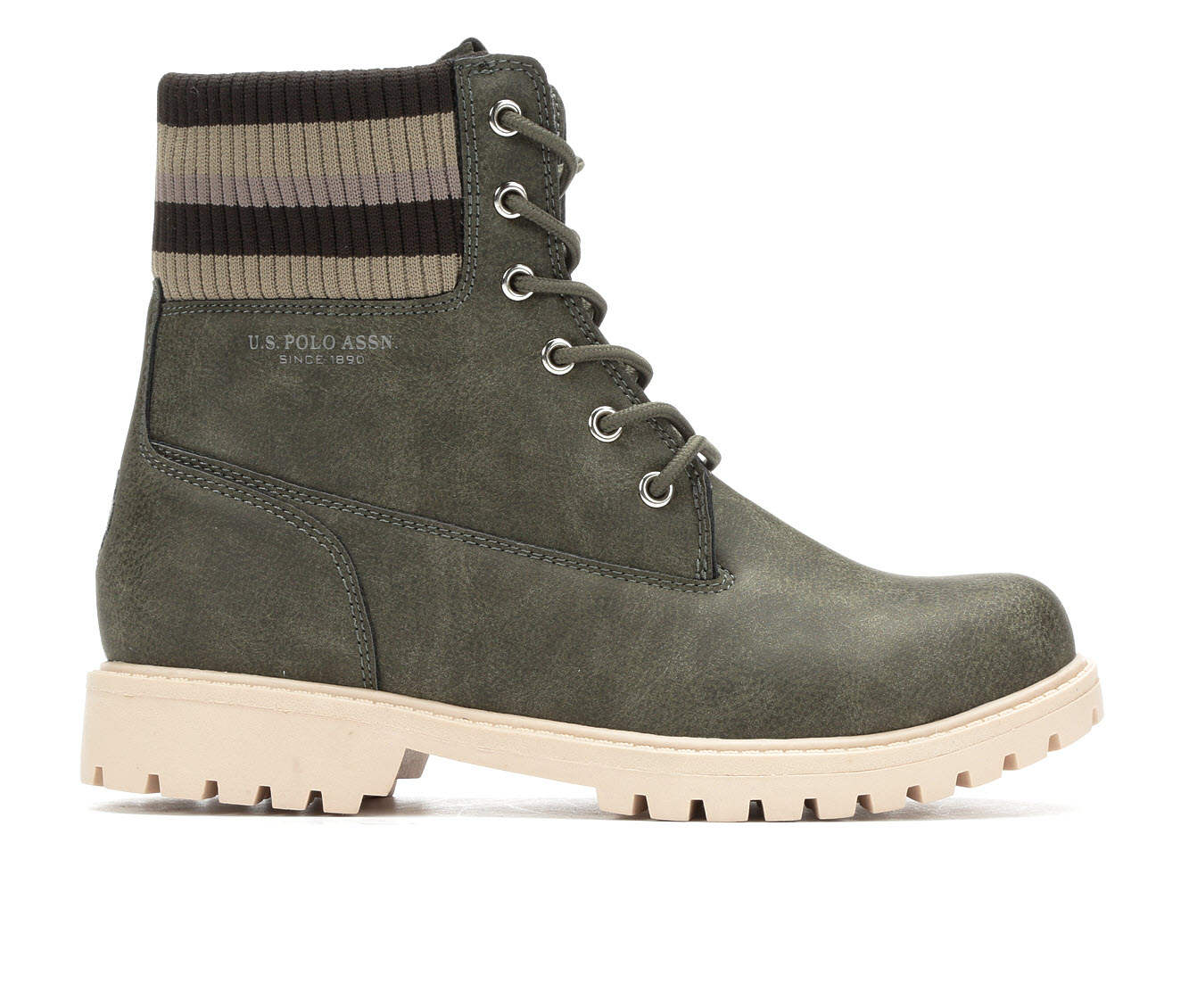 US Polo Assn Holland Women's Boot (Green Faux Leather)
