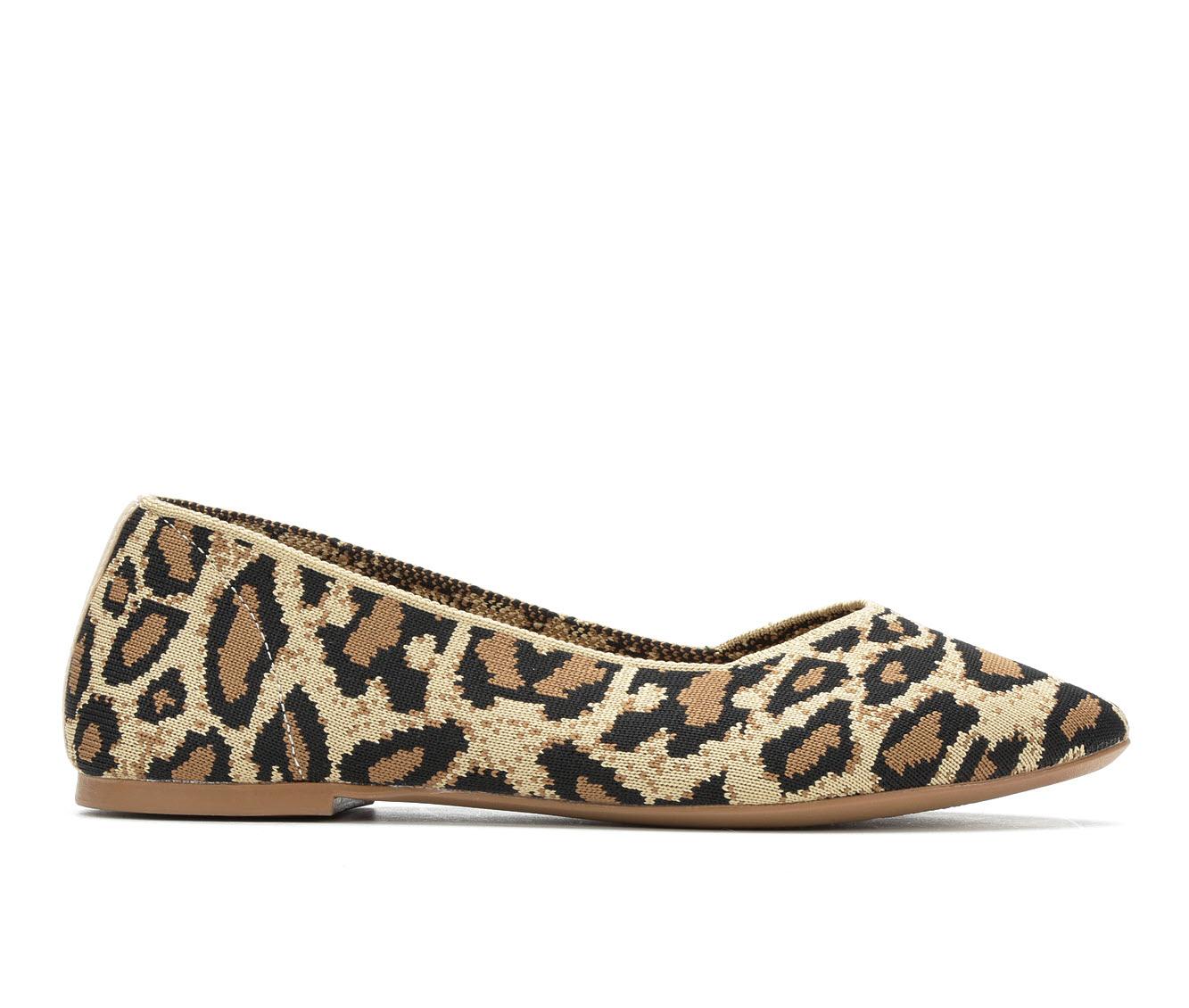 Skechers Cleo Leopard 44886 Women's Shoe (Brown Canvas)