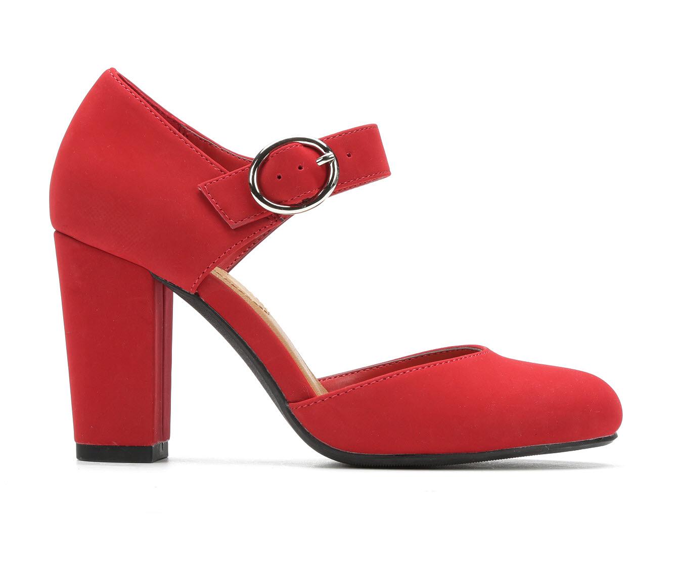 Y-Not Karrie Women's Dress Shoe (Red Faux Leather)