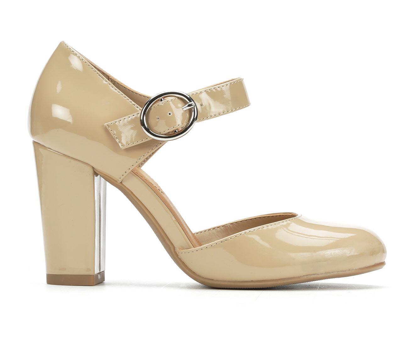 Y-Not Karrie Women's Dress Shoe (Beige Faux Leather)