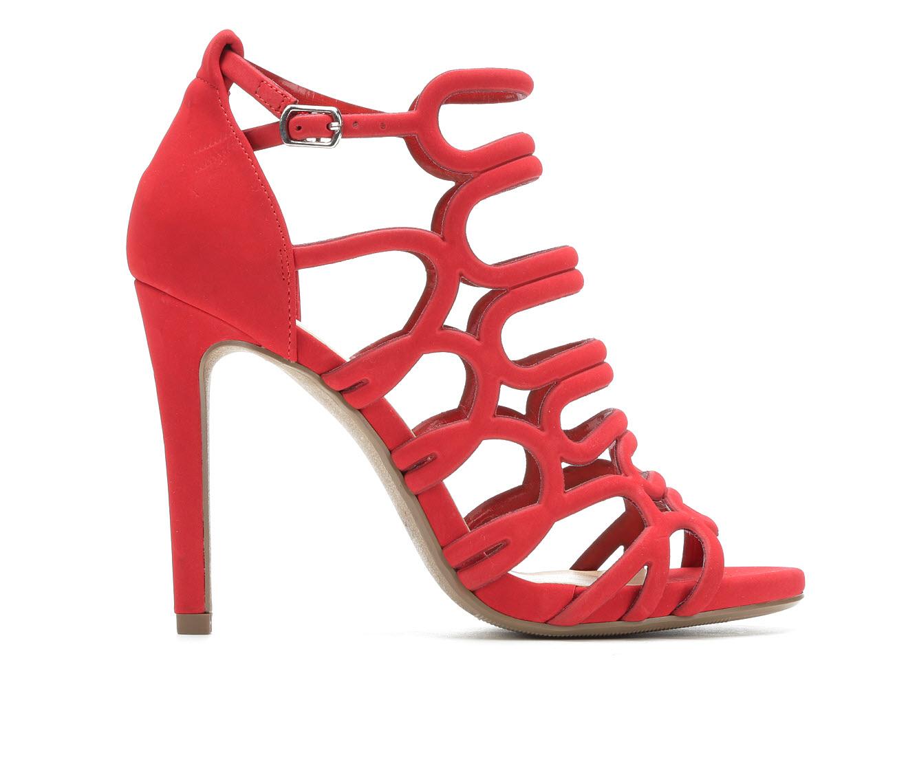 Y-Not London Women's Dress Shoe (Red Faux Leather)