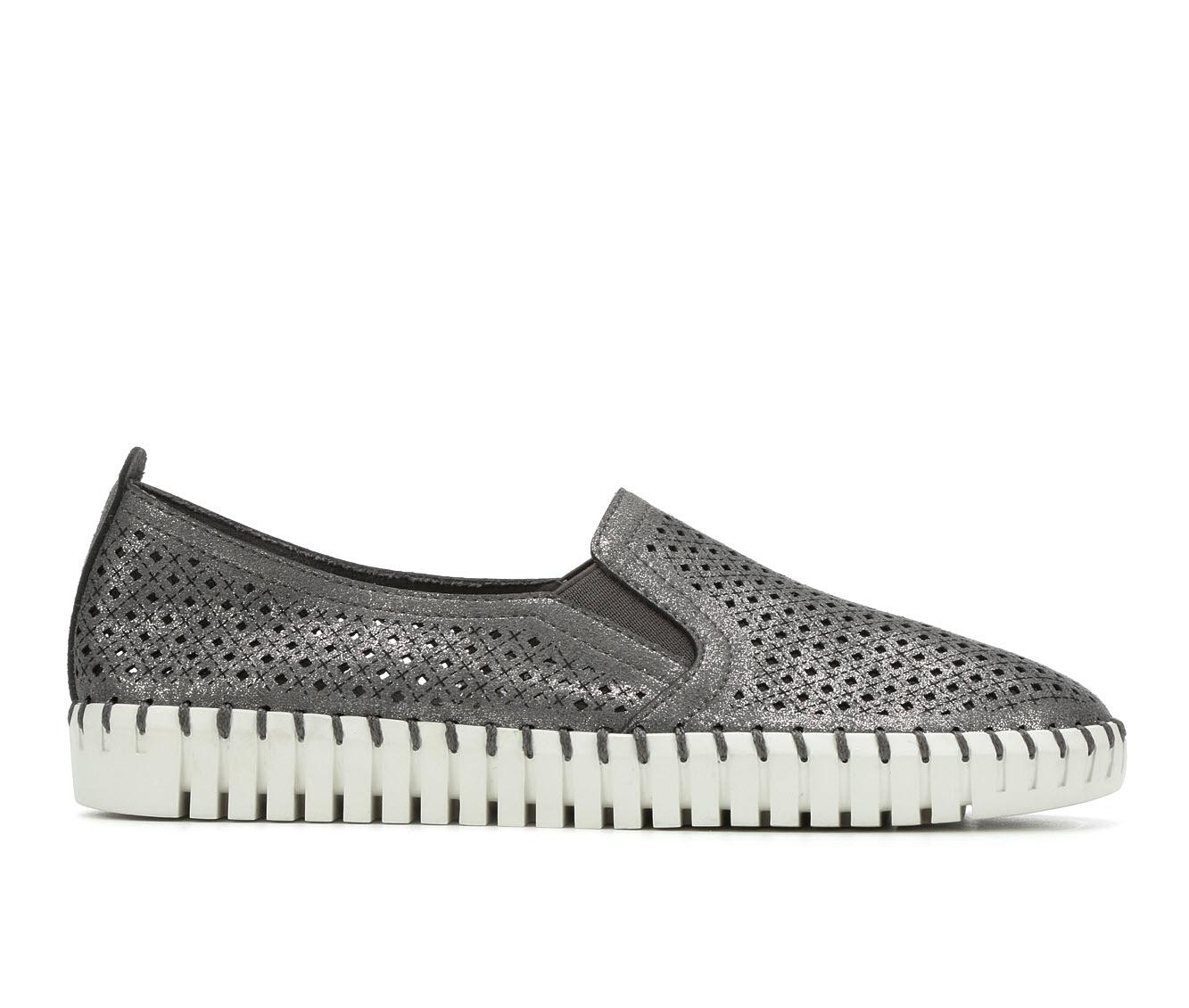 Skechers Memorable 27052 Women's Shoe (Gray Faux Leather)