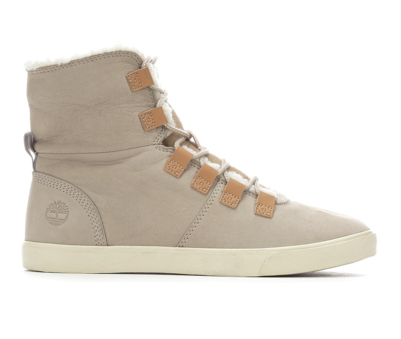 Timberland Dausette Fleece Women's Boot (Beige Leather)