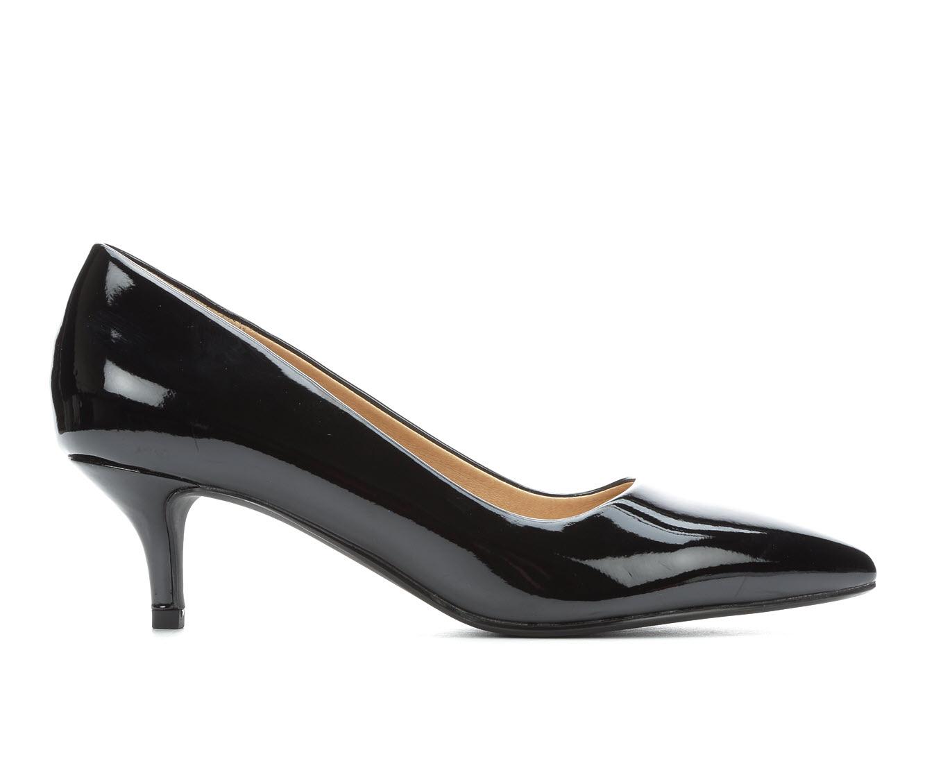 City Classified Hailey Women's Dress Shoe (Black Faux Leather)