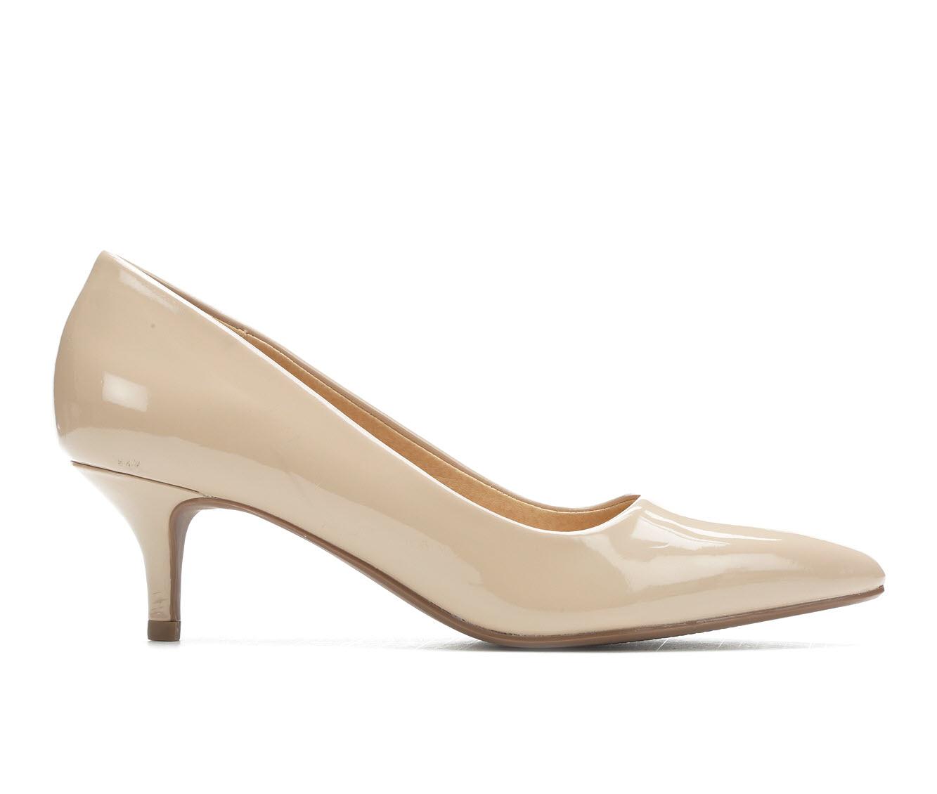 City Classified Hailey Women's Dress Shoe (Beige Faux Leather)