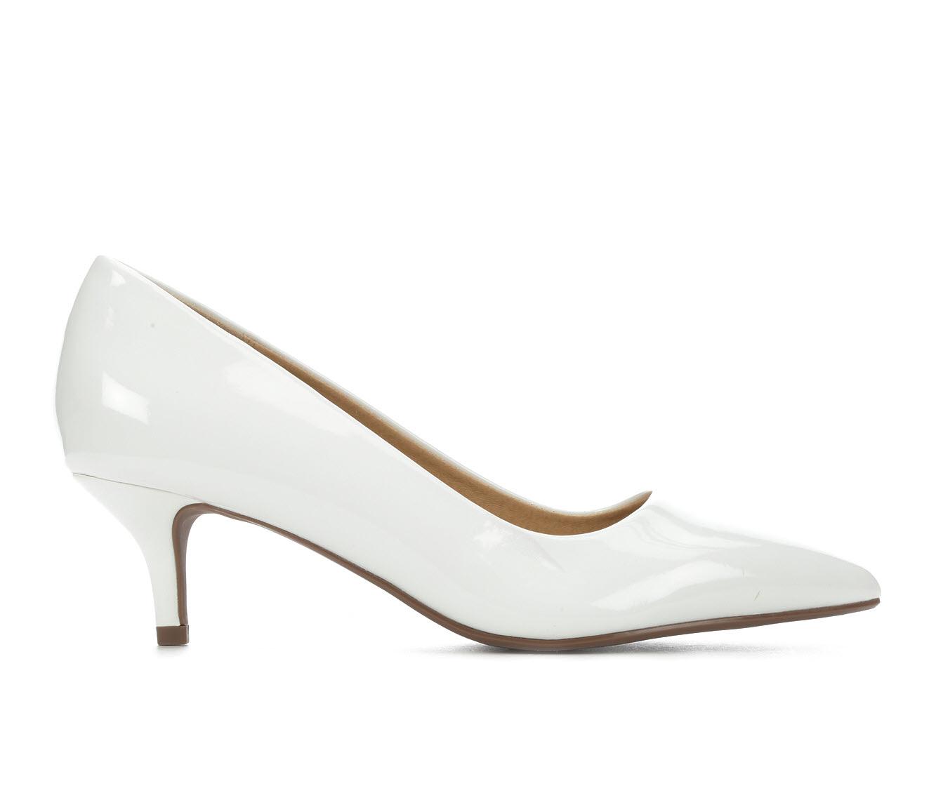 City Classified Hailey Women's Dress Shoe (White Faux Leather)