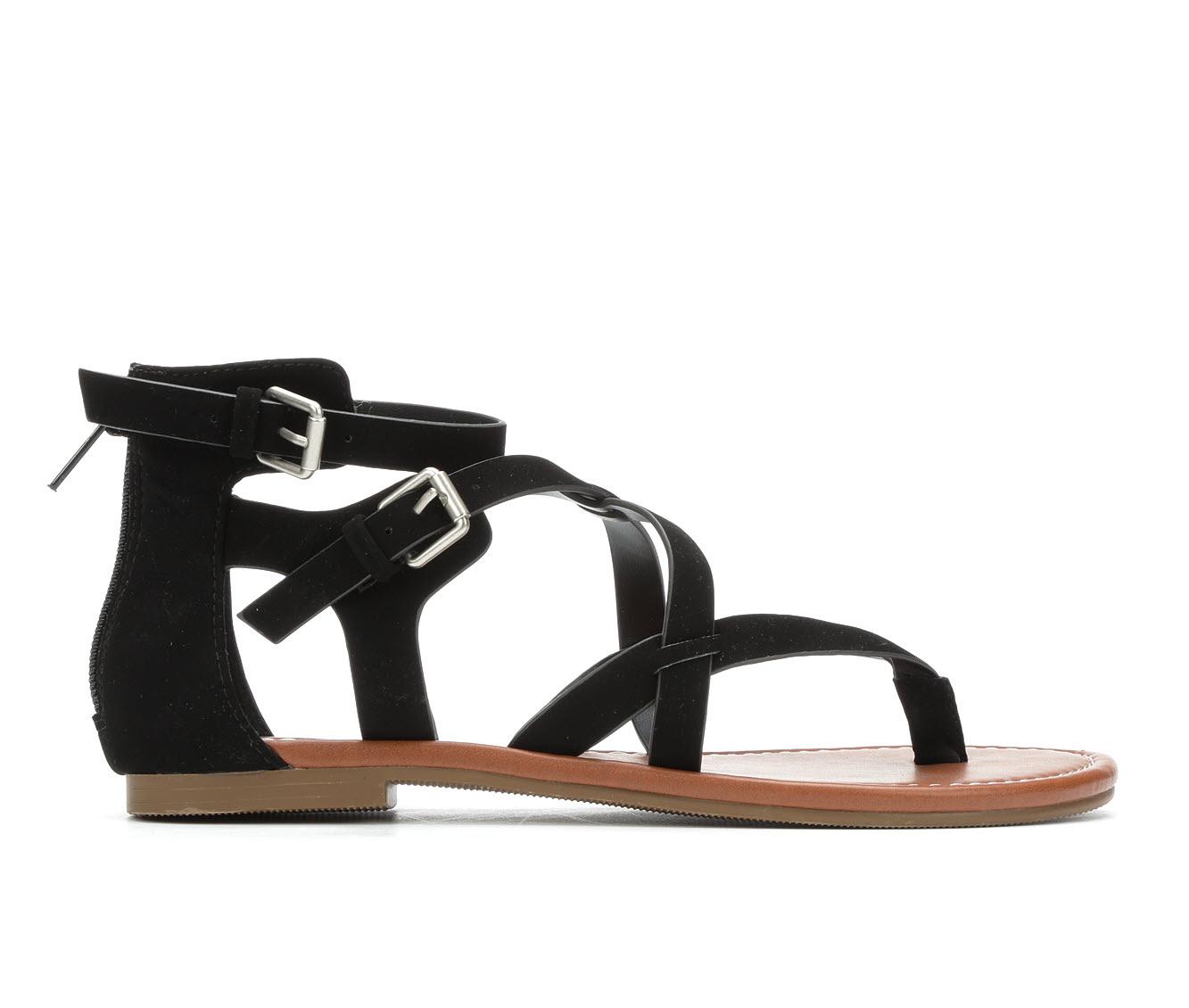 Unr8ed Perfect Women's Sandal (Black Faux Leather)