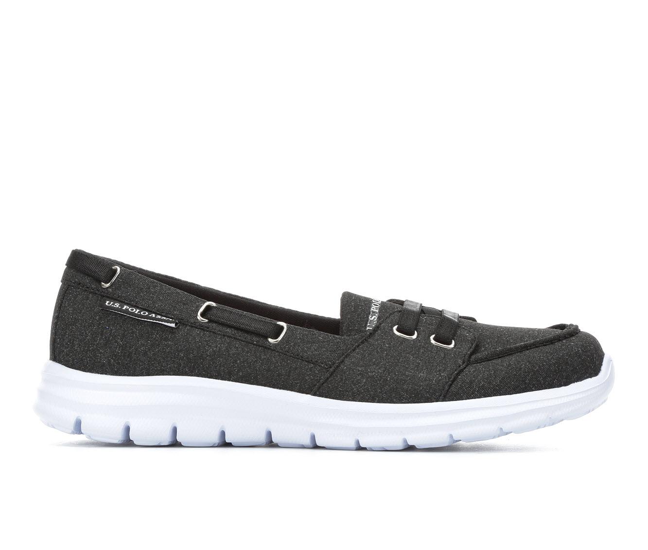 US Polo Assn Kit Women's Shoe (Black Canvas)