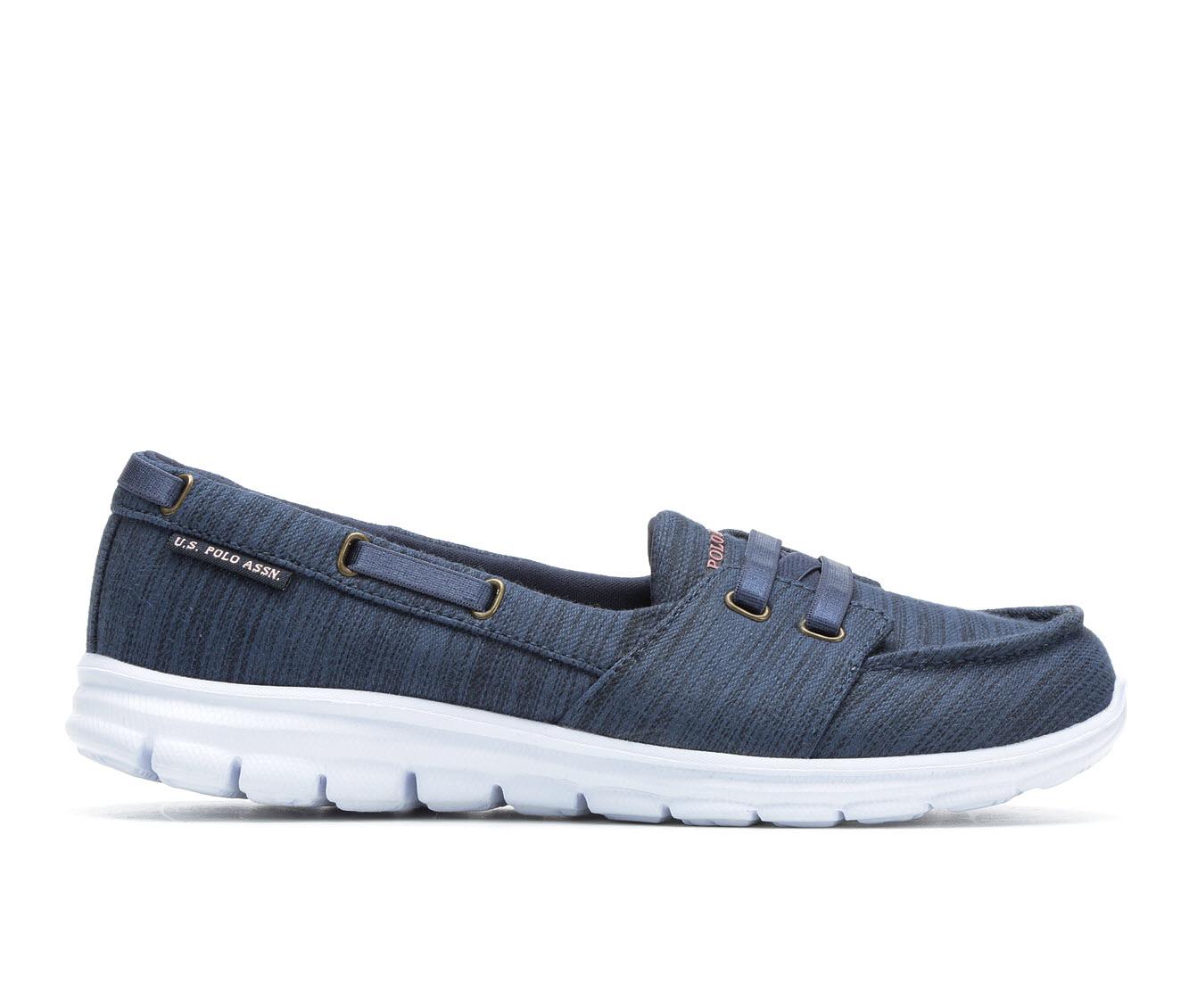 US Polo Assn Kit Women's Shoe (Blue Canvas)