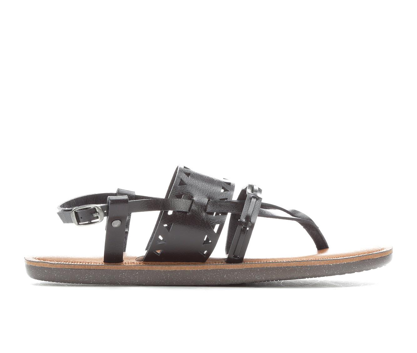 Vintage 7 Eight Pandora Women's Sandal (Black Faux Leather)