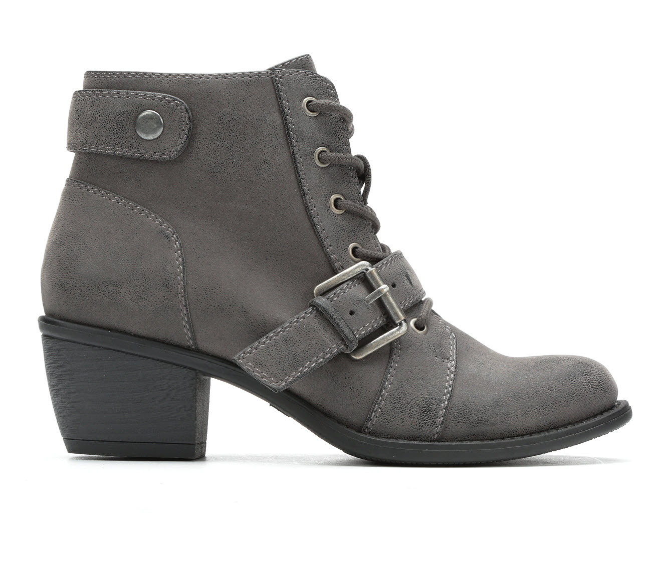 Axxiom Carly Women's Boot (Gray Faux Leather)