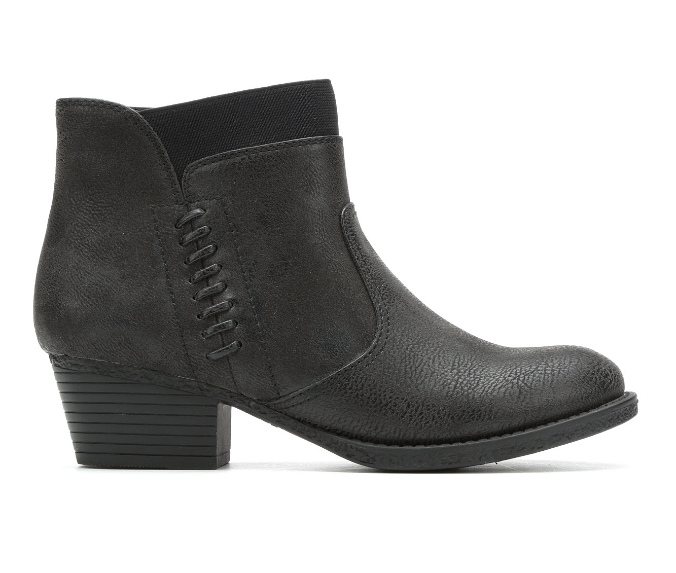 Vintage 7 Eight Shawna Women's Boot (Black Faux Leather)